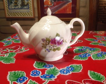 Vintage Price Kensington teapot with floral designs- Made in England