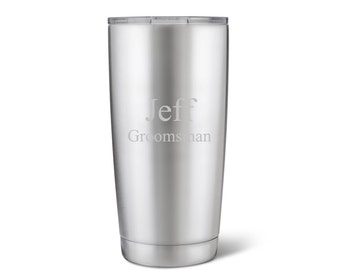 20 oz. Stainless Steel Double Wall Insulated Tumbler - Stainless Steel Tumbler - Personalized Travel Tumbler - Groomsmen Gifts - GC1521