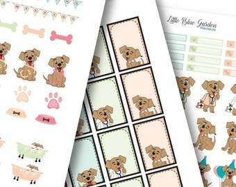 My Little Pup Color Medley: Mini Rainbow Planner Stickers -Instant Download, printable sticker kit, eclp stickers