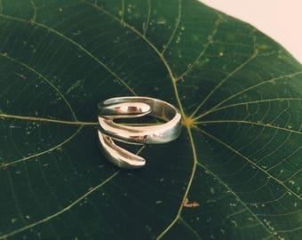 Silver leaf ring (925)