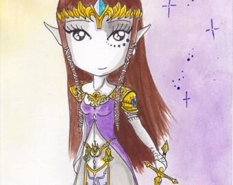 Ana Dess in Zelda - Original drawing