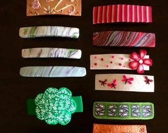 Polymer Clay Barrette