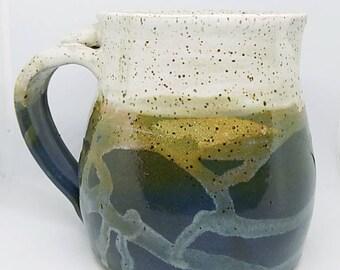 Pottery, ceramic mug, stoneware mug, coffee mug, gift for him, stoneware pottery mug, Mothers Day gift, Blue Mug, mug for coffee, pint mug
