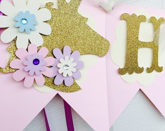 Unicorn birthday banner , unicorn banner, unicorn birthday party
