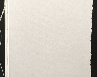 """Hand-Bound, Blank Watercolor Paper Journal 6""""x5.5"""""""