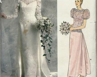 """Vogue 1829     Misses """"Wedding"""" or """"Bridesmaids""""   Dress      Size 16      Uncut"""