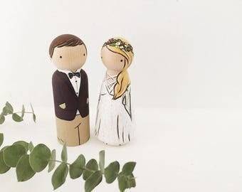 Custom wedding couple