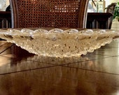 Rare Gold Lustre Lalique Roscoff Centerpiece Bowl Authentic Excellent Condition