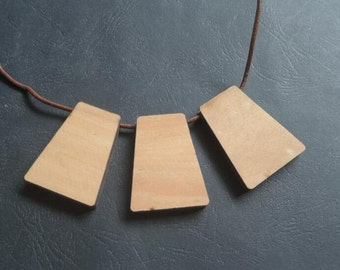 6 Pcs  23x33x43mm  trapezium/ladder type  wood Pendant  (NW234)