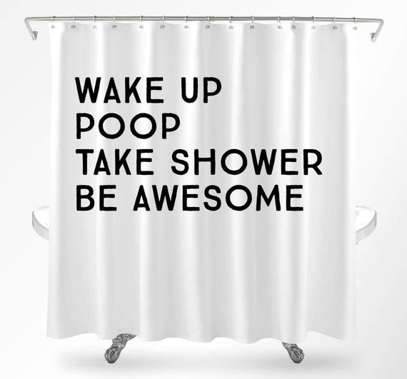 funny shower curtains cool shower curtains quote shower curtain college dorm shower curtain