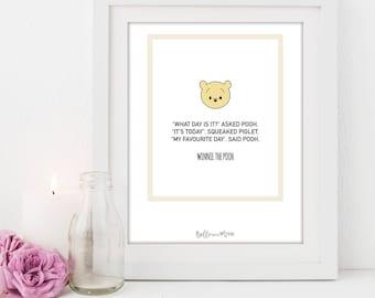 A4 Disney Series Print | Winnie the Pooh