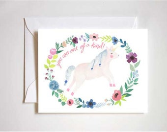 You Are One of a Kind / Unicorn / Birthday / Thinking of You / Blank Card