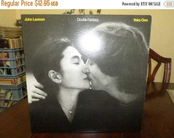 Save 30% Today Vintage 1981 Vinyl  LP Record Double Fantasy John Lennon Yoko Ono Near Mint Condition 6723