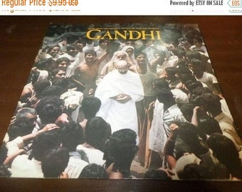 Save 30% Today Vintage 1982 Vinyl LP Record Gandhi Original Motion Picture Soundtrack Shankar Fenton Near Mint 3460