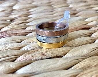 Triple Ring Set, Sterling Silver
