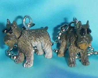 Set of Two ~ Scottish Terrier Puppy Dogs ~ Ceiling Fan Pull Chains