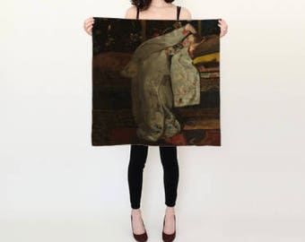 Geisha Lounging Silk Scarf