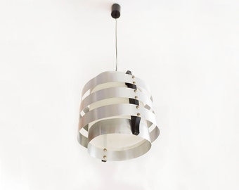 Ceiling lamp aluminum sheets and wood. Nordic style.