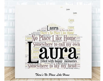 Home Message Ceramic Plaque. Personalised Gift