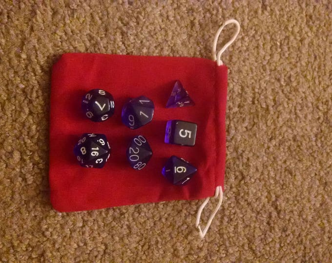 Purple Grape - 7 Die Polyhedral Set with Pouch