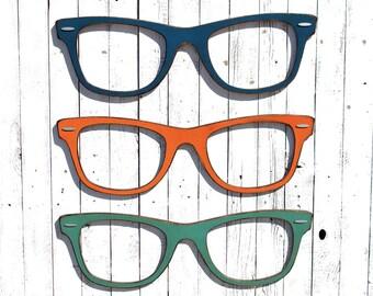 Optical Shop Decor Optometrist Office Big Wayfarer Sunglasses Large Wayfarer Eyeglasses Large Eyeglasses Eye Doctor Wall Decor Optical Shop