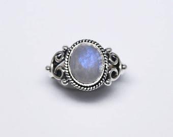 Moonstone ring – Silver moonstone ring - Monda ring - gemstone ring _ boho ring