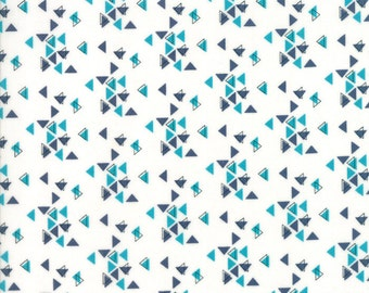 1/2 Yard - Spectrum Ombre - Triangles - Indigo Paper - V and Co - Vanessa Christenson - Moda Fabrics - Fabric Yardage - 10862-23