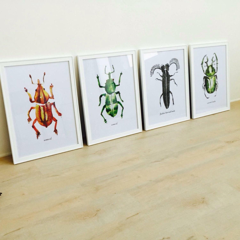 Insieme dell'illustrazione di bug di 2 pittura ad di colorzen
