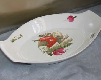 Egersund Pottery of Norway Serving Dish. Vegetables Nordic Design. Norwegian Ceramic  MCM