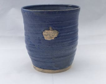 Blue mug, Queen mug, Pottery mug, crown mug, ceramic mug, blue pottery mug, Princess coffee mug, coffee mug, handmade mug, ceramic mug
