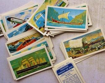 Full set of 50, Transport through the Ages,  Brooke Bond Tea cards,