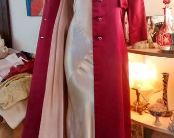 Custom Satin Formal Jacket Floor Length