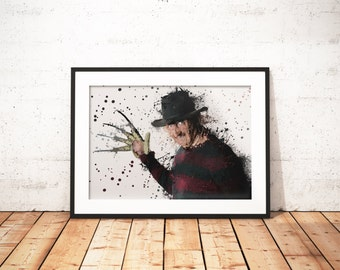 Freddy krueger - Limited edition print 210 x 297 mm, numbered and signed.