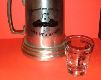 2, HTF, vintage Hamms beer with bear, bar items