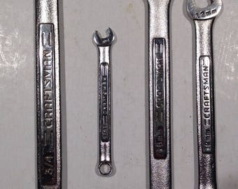 Set of 4, vintage, CRAFTSMAN, wrenches
