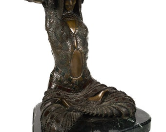 Chiparus - Goddess Shiva - Beautiful Vintage Art Deco Bronze Sculpture