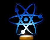 Atom Night Light - Big Bank Theory LED Nightlight - Atomic Design Light - Science Theme Bedroom Light - Planetary Theme Night Light