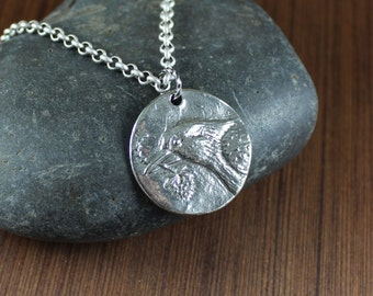 Rustic Romantic ~ Crow ~ Pendant necklace