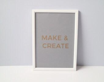 Make and Create Glotter Print