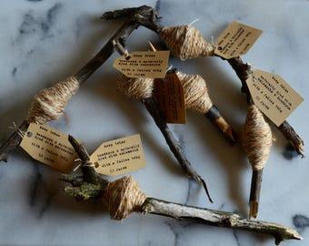 naturally dyed hemp twine | handspun baker's twine | laceweight yarn