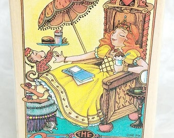 Princess Rubber stamp Mary Engelbreit Rubber Stamp All Night Media Princess of Quite a Lot, Mary Engelbreit Stamp, Scrapbook Princess Stamp
