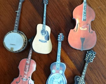 Bluegrass  Instrument Pins or Badges