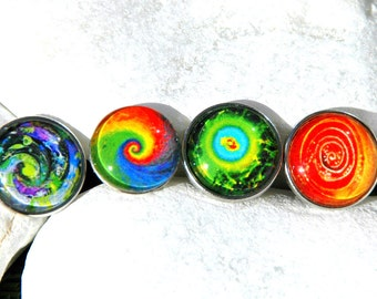 Interchangeable Snaps Spiral Patterns Snap Charm Noosa Style Chunk Snap Jewelry Compatible Popper Snap Ginger Snap European Jewelry