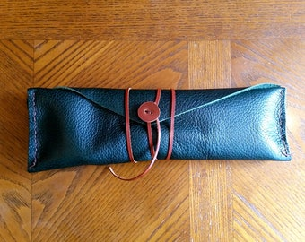 Leather Pencil Roll/Pencil Case