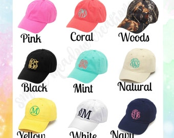 Monogrammed Cap, FREE Monogramming, Personalized Baseball Cap, Women's Cap, Girl's Cap, Summer Hat, Monogram Hat, Twill Hat, Adjustable Hat