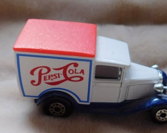 Vintage Made in England Die Cast Trucks-Pepsi