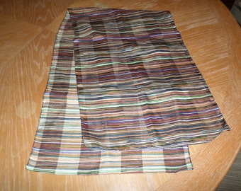 "Vintage Multi Colored Fine Stripe Scarf.  Size:  44"" x 13 1/2"""