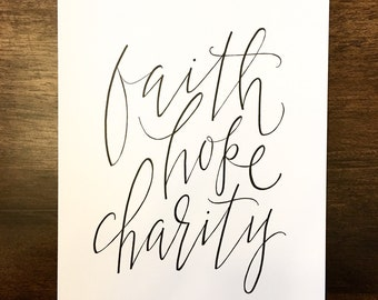 """Shop """"faith hope charity"""" in Craft Supplies & Tools"""