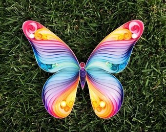 "Quilled Paper Art: ""Spread Your Wings & Fly, Butterfly"""