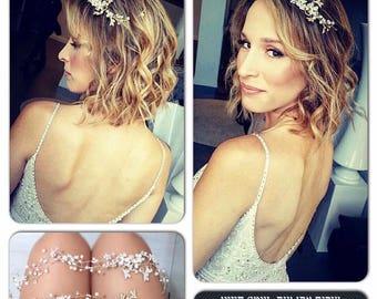 Wedding Headpiece, Crown, Bridal Tiara, Leaf Headpiece, flower tiara